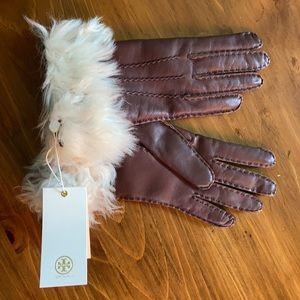 NWT TORY BURCH shearling gloves